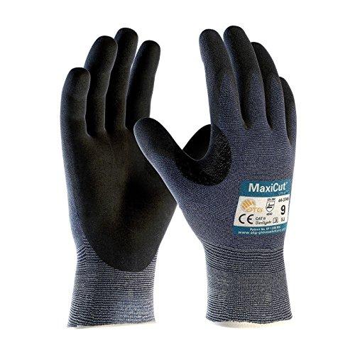 ATG 44-3745/10 - Guantes de nitrilo con revestimiento de palma (silicona, 72...