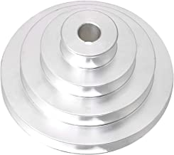 Homeswitch Aluminum 16mm Bore 4 Step A Type V-Belt Pagoda Pulley Belt Outer Dia 41-130mm