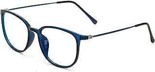 Womens Oversized Horn Rimmed Clear Lens Round Circle Glasses Frames Eyeglasses