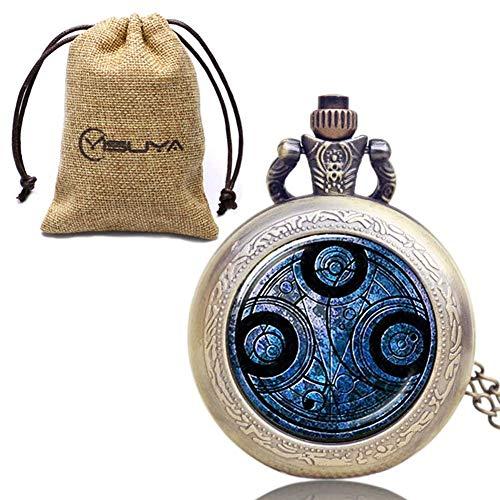 DZX Schnittmuster Taschenuhr für den Menschen, genaue Zeit Taschenuhren für Jungen, einfach zu bedienende Weihnachtsgeschenkkette Taschenuhr für Jugendliche