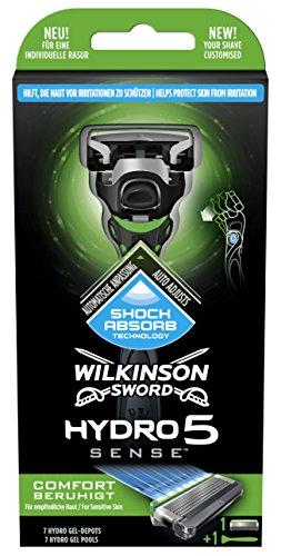 Maquinilla de afeitar para pieles sensibles – Wilkinson recargable Hydro 5 Sense Confort