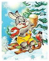 数字油絵 キャンバスのクリスマスの描画の絵画のキャンバス描画番号 (Color : SZHC3 3601, Size(cm) : 40x50cm No Frame)
