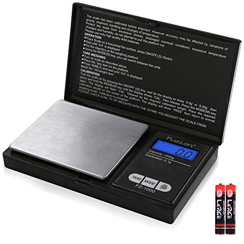 Fuzion Digital Pocket Scale 1000g/0.1g, Small Digital Scales Grams and Ounces, Jewelry Scale, Kitchen Scale, Portable Travel Food Scale(Battery Included)