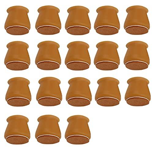 Fundas de silicona para patas de silla, antideslizantes, para patas de silla, protectores de mesa de muebles, evitar arañazos y ruidos (40 unidades), color marrón