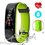 CHEREEKI Fitness Tracker, Smart Band IP68 Waterproof Heart Rate Monitor...