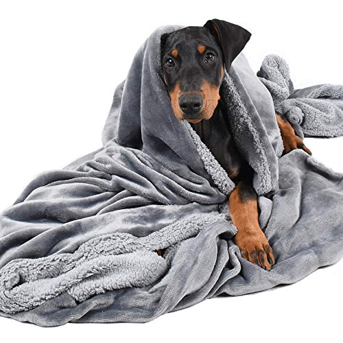 Pawsse Dog Blankets for Large Dogs,Super Soft Warm Sherpa Fleece Plush Doggie Blankets and Throws for Small Medium Puppy Doggy Pet Cats