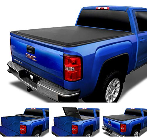 Tyger Auto T3 Soft Tri-Fold Truck Bed Tonneau Cover for 2007-2013 Chevy Silverado/GMC Sierra 1500; 2007-2014 2500 HD 3500 HD Fleetside 6.5' Bed TG-BC3C1004