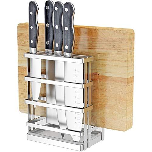 Porte-Couteaux Vide Planches à découper Couteau Organisateur, Ustensiles de cuisine en acier inoxydable Grille de Broyage Boards/Couteaux Flatware Stockage Blocs couteaux