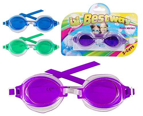 Lunette High Style de piscine ENFANT 3/6 ans - Natation - BLEU - Blister