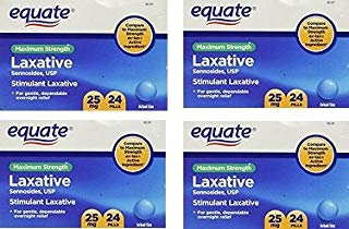 Equate Laxative Maximum Strength Sennosides 25 mg, 24 Pills Bulk 4 Pack