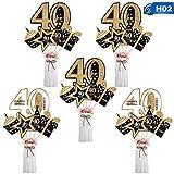 Opopark 24 Piezas de Decoración de Fiesta de Cumpleaños Set Accesorios de Decoración de Fiesta de Cumpleaños de Oro(40)