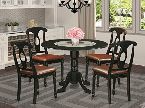 5 Pc Dinette Table set - Small Kitchen Table and 4 Dining Chairs