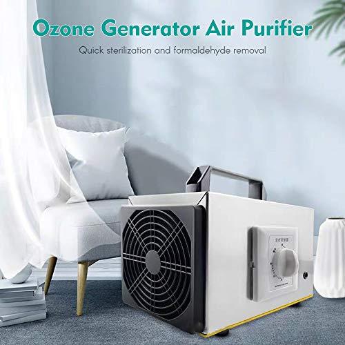 Loijon 10g / h ozonizador portátil zona produzir máquina gerador de ozônio purificador de filtro de ar ventilador para casa, cozinha, escritório, hotel, carro, barco, restaurante, loja formaldeído remover ,