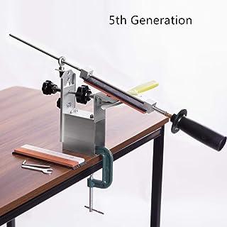 Afilador de cuchillos Hu Professional with3 whetstone El más nuevo Rotación portátil de 360 grados Ángulo fijo Apex edge KME system