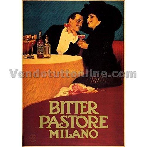 Plaque Vintage Bitter Berger 1913 (Dim 20 x 14 cm)