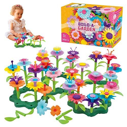 OCDAY Blumengarten Spielzeug| DIY Bouquet Sets Mädchen Geschenk für 2-6Jährige(98 PCS)