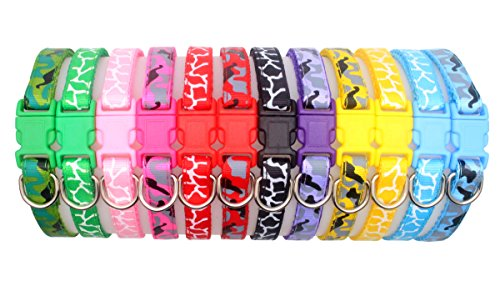 YOY 12 pcs/Set Soft Nylon Puppy Whelping ID Collars - Adjustable Reusable Washable Baby Dog ID Bands Pet Identification for Breeders, Neck 8 - 13