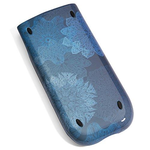 Amped Electronics - Blue Stylish Om Mandala Slide Case for TI-84 Plus, TI-84 Plus Silver Edition, TI-89 Titanium TI Graphing Calculators