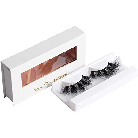 BEAUTY CAT 3D False Mink Eyelashes Long Size No. 002 AMSTERDAM for Full Long Dramatic and Natural Look with Comfortable Wearing Strip Lashes by Handmade, Soft & Light Weight Fluffy Faux Eyelash with Luxury Packaging Box for Eye Makeup and Reusable from South Korea