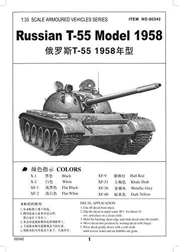 Trumpeter 00342 Modellbausatz Russischer Panzer T-55A von 1958