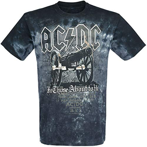 AC/DC For Those About To Rock - Cannon Hombre Camiseta Negro XL, 100% algodón, Regular