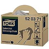 Tork 520371 - Pack de 280 paños de limpieza industrial, 1 capa, color gris