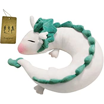 Evalent Anime Cute White Dragon Doll Plush Toy Japanese Animation Pillow Neck U-Shape White