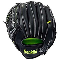 EASY BREAK IN: The soft synthetic leather material is lightweight and responsive making the glove easy and quick to break in so it will be game-ready in no time for baseball, softball, or teeball ADJUSTABLE: Complete with an adjustable wrist strap an...