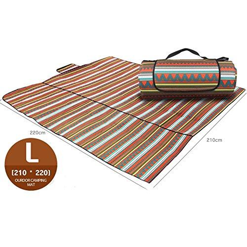 Axjzh Résistant à l'humidité imperméable Oxford Pique-Nique Pad Couverture Camping Mat, M