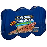 Armour Star Potted Meat, Canned Meat, 3 OZ (Pack of 6)