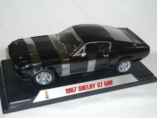 Shelby Ford Mustang 1967 Gt500 Gt-500 Schwarz Schwarze Streifen Basis Eleanor 1/18 Collectibles Modellauto Modell Auto