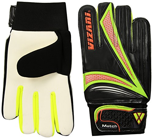 Vizari Junior Match Glove, Black/Orange/Green, Size 4