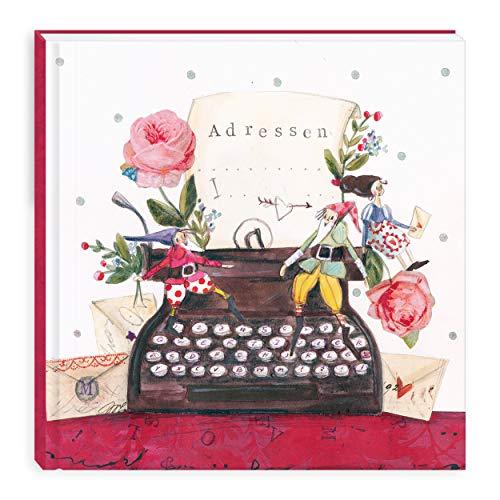 Adressbuch I Telefonbuch quadratisch, klein mit Register, Geburtstagskalender, Telefonregister mit Alphabet, Kontaktbuch zur Adressverwaltung, Grätz Verlag