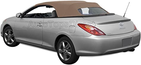 Sierra Auto Tops Convertible Soft Top Replacement, compatible with Toyota Solara 2004-2009, w/Heated Glass Window, TwillFast II Canvas, Beige