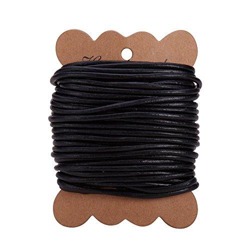 PandaHall Elite 1 Rotolo 10m Cordoncini di Cuoio per collane Filo per Perline Filo per Braccialetti Fai da Te, 3mm Diametro