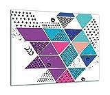 TMK | Placa de cristal para cubrir la cocina de 60 x 52 cm, una sola pieza, para cocina eléctrica, inducción, protección contra salpicaduras, placa de cristal, decoración de tabla de cortar, mosaico