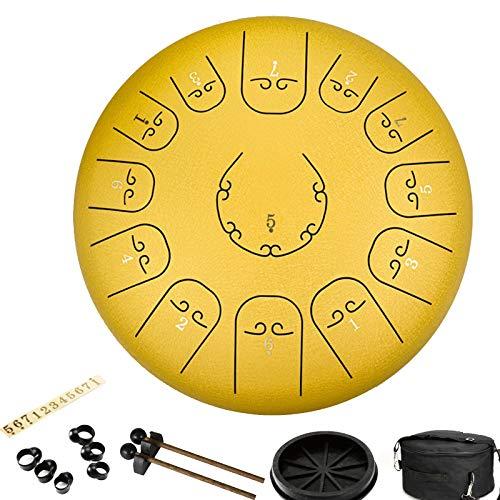 FansQ Stahlzunge Trommel 12 Zoll 13 Hinweise, kreatives Rhythmusinstrument for Musikerziehung Yoga Meditation Ideen for Erwachsene for Kinder mit Tasche Schlägel Schlaginstrument (Color : I)