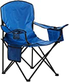 Amazon Basics Extra Large Padded Folding Outdoor Camping Chair with Bag - 38 x 24 x 36 Inches, Blue