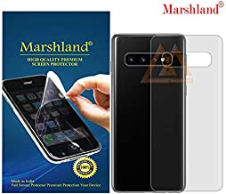 MARSHLAND Matte Finish Back Screen Protector Flexible Anti Scratch Bubble Free Back Screen Guard Compatible for Samsung Galaxy S10 Plus