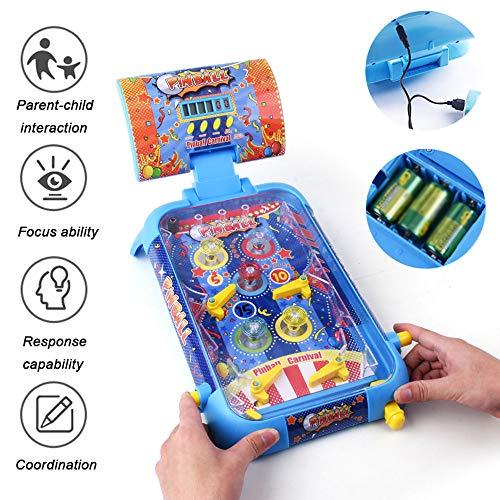 HRXQ Pinball Mini Pinball Toy Desktop Máquina De Pinball para Niños Iluminación Efectos De Sonido Mini Pinball Máquina De Juego Juego De Mesa Niños Y Niñas Juguetes Interacción Padre-Hijo