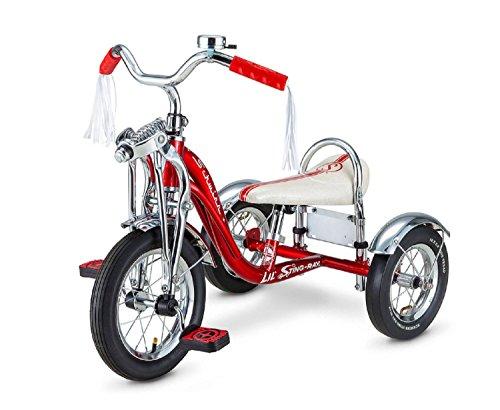 Schwinn Lil 'Sting-Ray Super Deluxe Triciclo para niños de 2 a 4 años, Rueda Delantera de 12 Pulgadas, Rojo