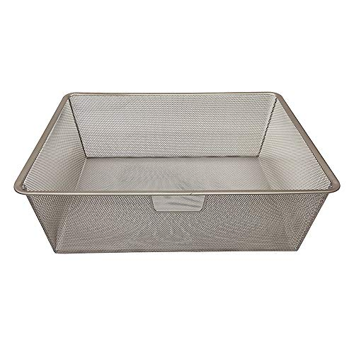 Closet Culture by Knape & Vogt 7.28 in. H x 16.65 in. W x 21.56 Champagne Nickel, 22 in. Wire Mesh Basket
