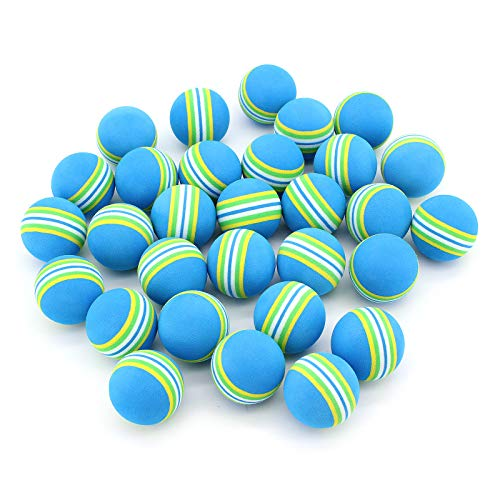 Yuhtech 30 Pcs Práctica Pelotas de Golf 42mm Indoor Práctica Espuma Bolas (Azul)