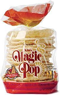 Kim's Magic Pop Whole Wheat Flavor 12-Pack: Freshly Popped Rice Cakes, Healthy Grain Snack, 0 Weight Watchers Point