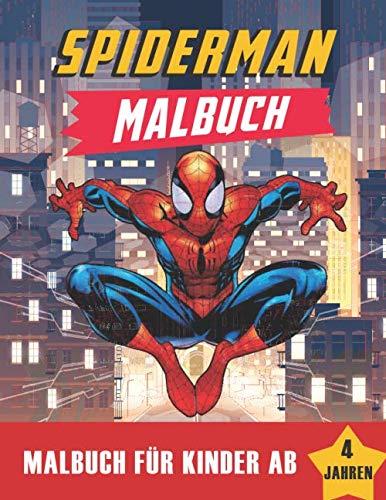 spiderman malbuch__malbuch für kinder ab 4 jahren: Erstaunliches Buch für Spider-Man. (Marvel superhero, Band 1)