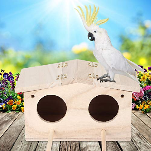 Robuster Nistkasten für Vögel, Vogelhaus, Tür mit Zwei Löchern für Papageien Wildtiere Verwenden Sie Vögel, die Vögel füttern