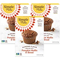 3-Count Simple Mills Almond Flour Baking Mix, Gluten Free Pumpkin Bread Mix