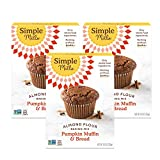 Simple Mills Almond Flour Baking Mix, Gluten Free Pumpkin Bread Mix, Muffin pan ready, Made with whole foods, 3 Count (Packaging May Vary)