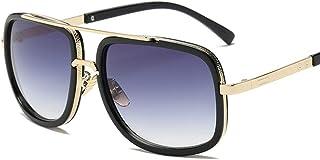 DishyKooker Men Square Fashion UV400 Retro Sunglasses for Outdoor Sports Driving