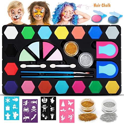 DOOKEY Pinturas Cara para Niños, Pintura Facial no Tóxicos con 16 Colores...